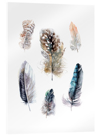 Acrylglas print  Feathers collection - Verbrugge Watercolor