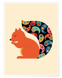 Premium poster  Paisley Squirrel - Andy Westface