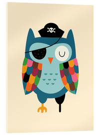 Acrylglas print  Captain Whooo - Andy Westface