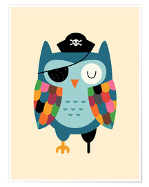 Premium poster  Captain Whooo - Andy Westface
