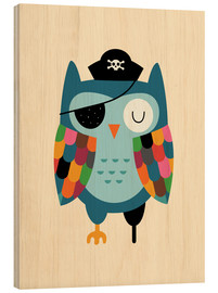 Hout print  Captain Whooo - Andy Westface