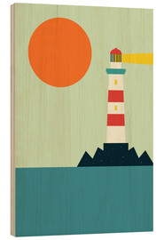 Hout print  Light House - Andy Westface