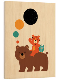 Hout print  The little explorers - Andy Westface