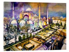 Acrylglas print  Istanbul, view to the Hagia Sophia mosque - Johann Pickl
