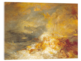 Acrylglas print  Fire at sea - Joseph Mallord William Turner