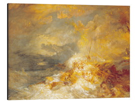 Aluminium print  Disaster at Sea - Joseph Mallord William Turner