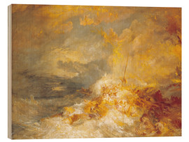 Hout print  Disaster at Sea - Joseph Mallord William Turner