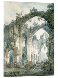 Acrylglas print  Interior of Tintern Abbey in Monmouthshire - Joseph Mallord William Turner