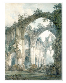 Premium poster  Interior of Tintern Abbey in Monmouthshire - Joseph Mallord William Turner