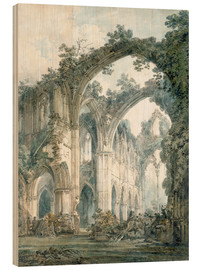 Hout print  Interior of Tintern Abbey in Monmouthshire - Joseph Mallord William Turner