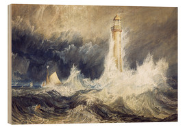 Hout print  Bell Rock Lighthouse - Joseph Mallord William Turner