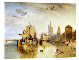 Acrylglas print  Cologne, the arrival of a post boat - Joseph Mallord William Turner