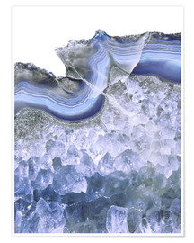 Premium poster Agate in water blue