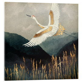 Acrylglas print  Elegant Flight of a Crane - SpaceFrog Designs