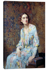 Canvas print  Portrait of a Lady - Albert Henry Collings