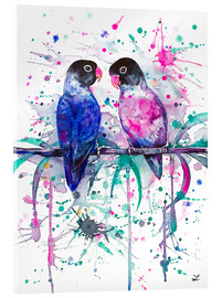 Acrylglas print  Love is in the air! Lovebirds - Zaira Dzhaubaeva
