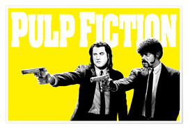 Premium poster Pulp Fiction Yellow BANG