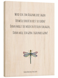Hout print  Goethe, quote in German - Typobox