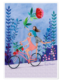 Premium poster Merry bike ride