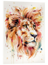Acrylglas print  All Things Majestic (Lion) - Sillier Than Sally