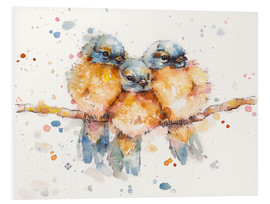 PVC print  Little bluebirds - Sillier Than Sally