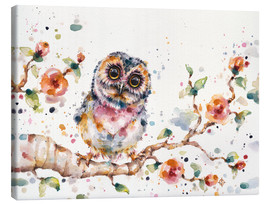 Canvas print  Yep Cute Is My Middle Name (baby Owl) - Sillier Than Sally