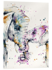 Acrylglas print  That type of love (elephants) - Sillier Than Sally