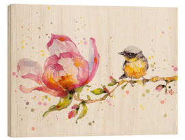 Hout print  Magnolia and buddy - Sillier Than Sally