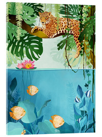 Acrylglas print  Welcome to the Jungle - luipaard - Goed Blauw