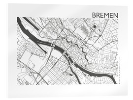 Acrylglas print  City map of Bremen - 44spaces