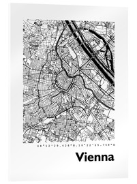 Acrylglas print  City map of Vienna - 44spaces