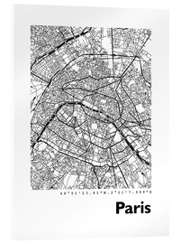 Acrylglas print  Map of Paris - 44spaces