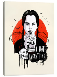 Canvas print  Wednesday, Addams Family - 2ToastDesign