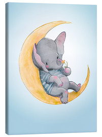 Canvas print  Elephant in the moon - Kidz Collection