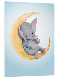 PVC print  Olifant liggend op de maan - Kidz Collection