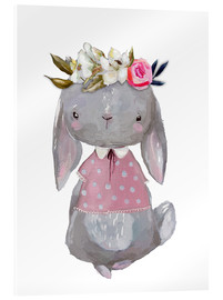 Acrylglas print  Summer bunny with flowers in her hair - Kidz Collection