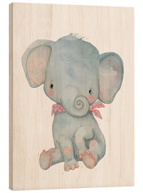 Hout print  My little elephant - Kidz Collection