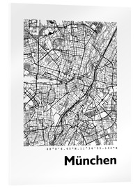 Acrylglas print  City map of Munich - 44spaces