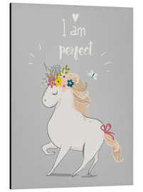 Aluminium print  Perfect little unicorn - Kidz Collection