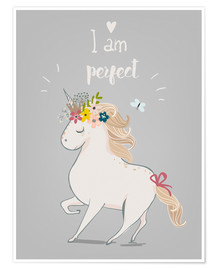 Premium poster  Perfect little unicorn - Kidz Collection