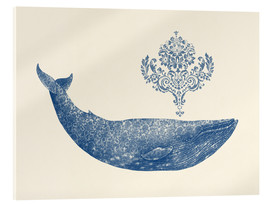 Acrylglas print  A whale from Damask - Terry Fan