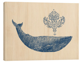 Hout print  A whale from Damask - Terry Fan