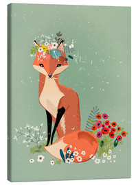Canvas print  Fox in the spring - Kidz Collection