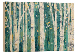 Hout print  Birches in Spring - Julia Purinton