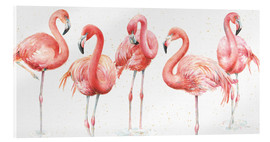Acrylglas print  Pink flamingos VIII - Lisa Audit