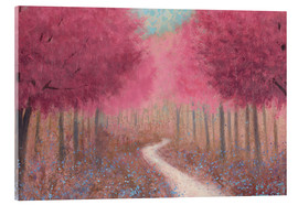 Acrylglas print  Forest road in the spring - James Wiens