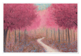 Premium poster Forest road in the spring