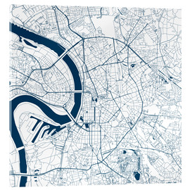 Acrylglas print  City map of Dusseldorf - 44spaces