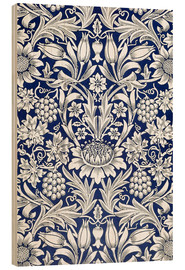 Hout print  Sunflower - William Morris