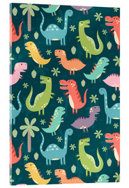 Acrylglas print  Colorful dinosaurs - Kidz Collection